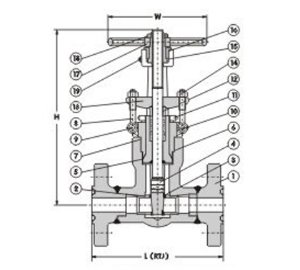 Flanged End Pressure Seal Gate Valve